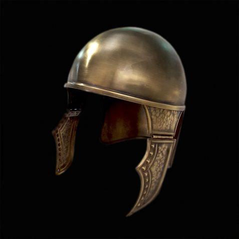 casco en oro viejo