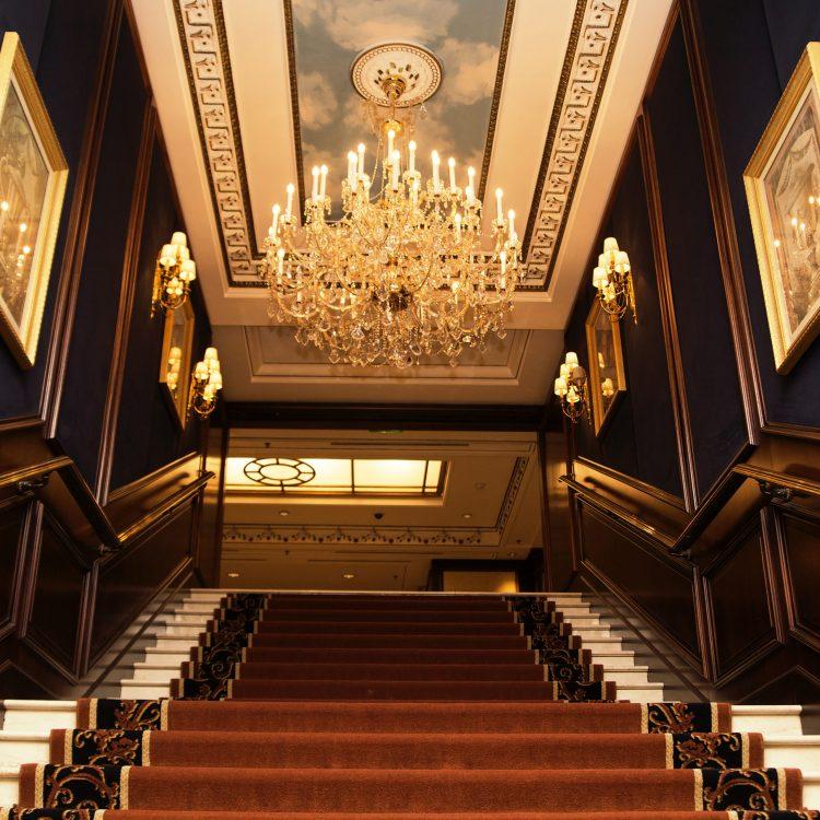 Austria, Vienna- February 19, 2014  InterContinental Vienna Hotel lobby lights